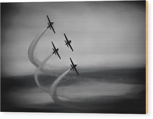 The Blades In Formation Sunderland Air Show 2014 Wood Print