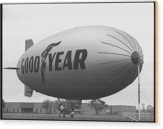 The Goodyear Blimp In 1979 Wood Print
