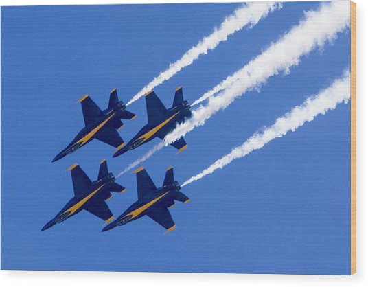 The Blue Angels In Action 2 Wood Print
