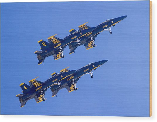 The Blue Angels In Action 3 Wood Print