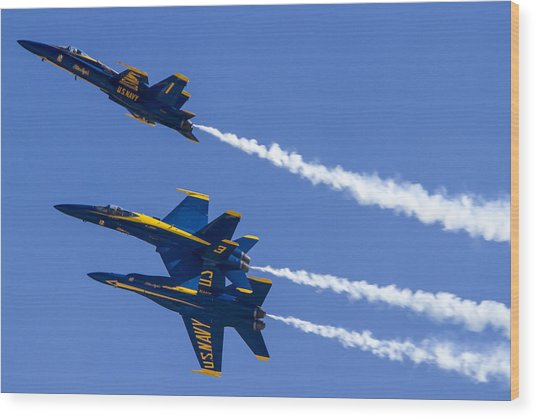 The Blue Angels In Action 5 Wood Print