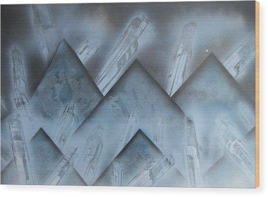 Blue Mountain Way Wood Print