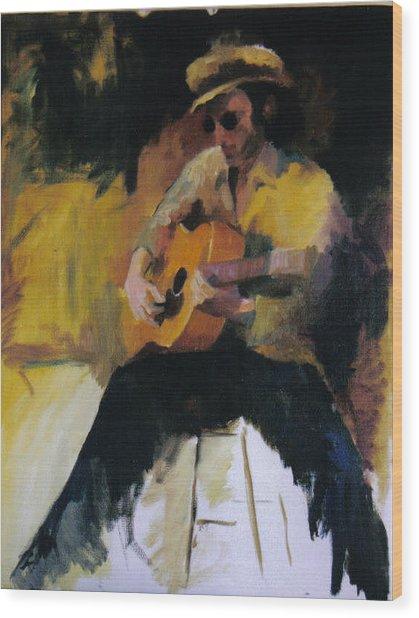 The Blues Man Wood Print by John L Campbell