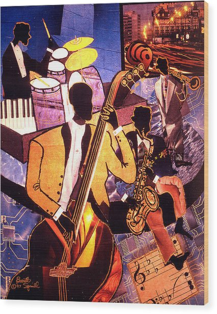 The Blues People Wood Print