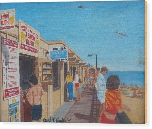 The Boardwalk At Daytona Beach Wood Print