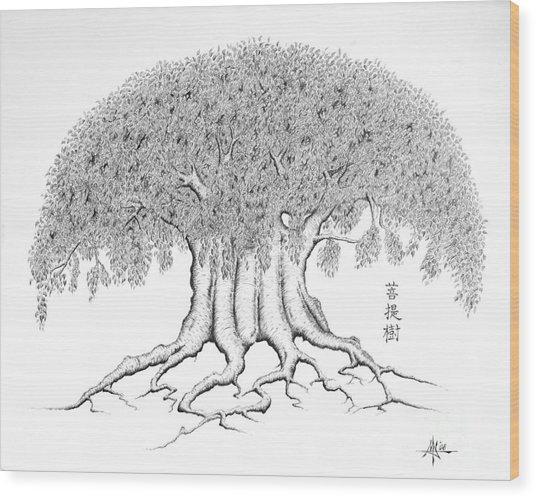 The Boddhi Tree Wood Print by Robert Fenwick May Jr