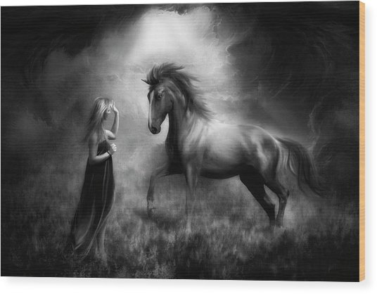 The Bond Between Us... Wood Print by Charlaine Gerber