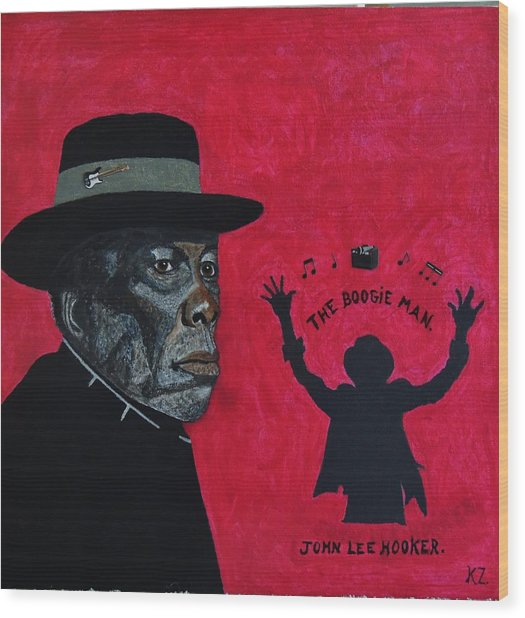 The Boogie Man.john Lee Hooker. Wood Print