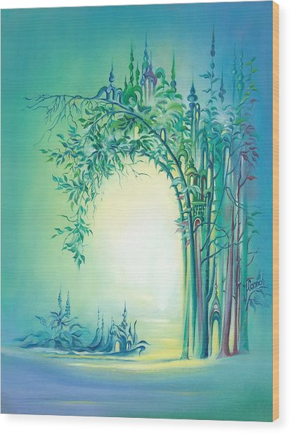 The Boundary Bush Wood Print