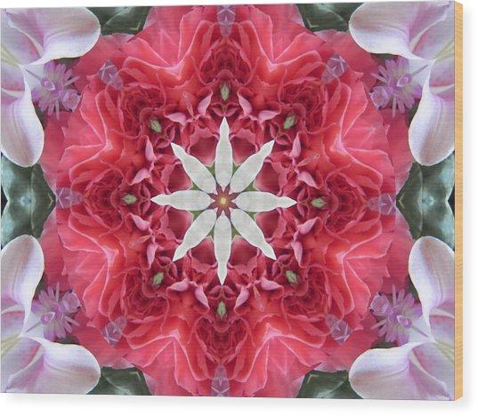 The Bouquet Mandala Wood Print