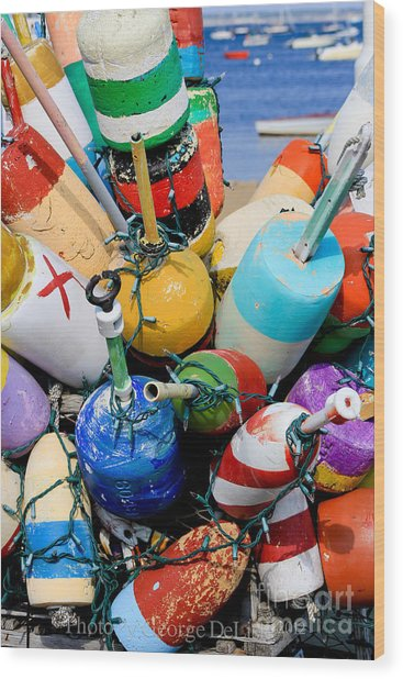 The Bouys Are Back In Town Wood Print