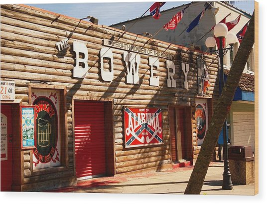 The Bowery Myrtle Beach Wood Print