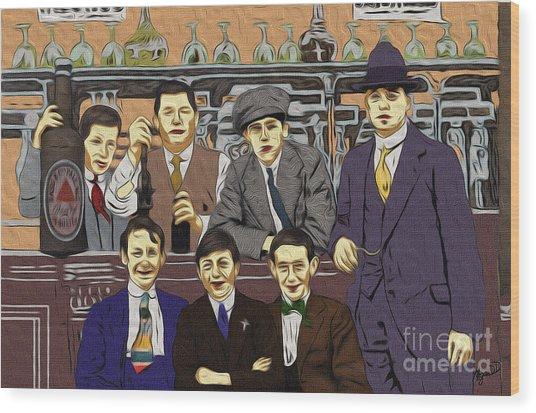 The Boys At Blackpool Wood Print