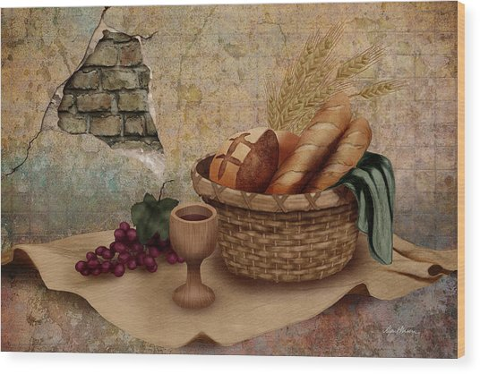 The Bread Of Life Wood Print