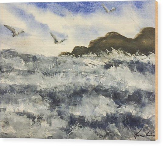 The Breeze  Wood Print by Karen  Condron