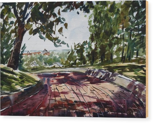 The Brick Road Over South Peru Wood Print