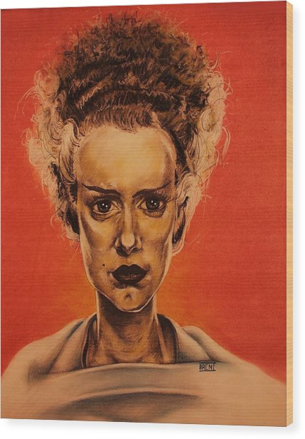The Bride Of Frankenstein Wood Print