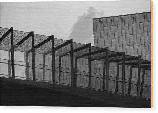 The Bridge Wood Print by Andrew Menzies