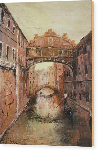 The Bridge Of Sighs Venice Italy Wood Print