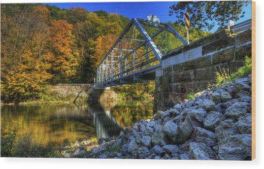 The Bridge Over Beaver Creek Wood Print