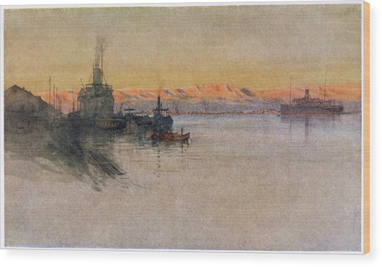 The British Transport Ships  'erma' Wood Print by Mary Evans Picture Library