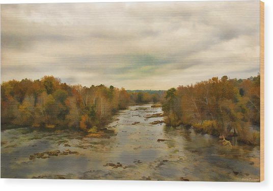 The Broad River Wood Print