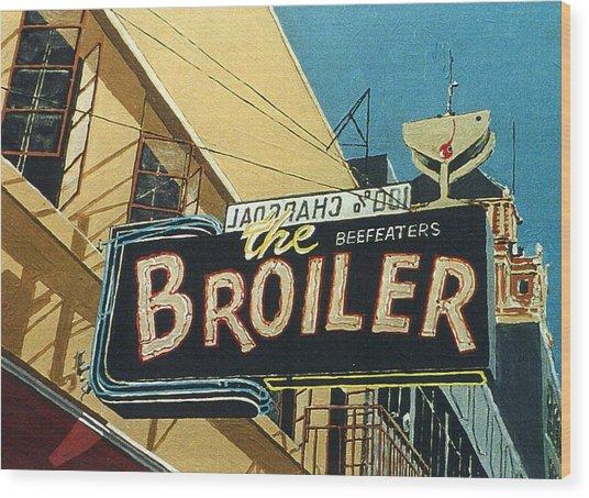 The Broiler On J Street Wood Print by Paul Guyer