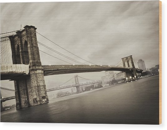 The Brooklyn Bridge Wood Print