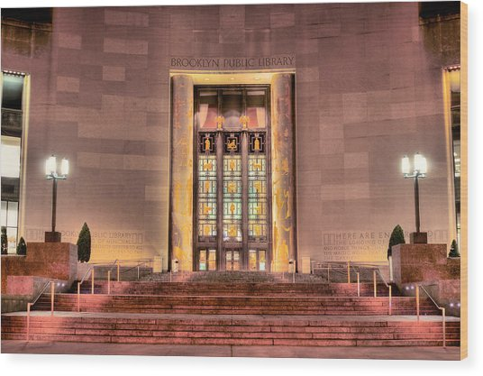 The Brooklyn Public Library Wood Print by JC Findley