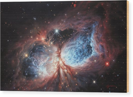 The Brush Strokes Of Star Birth Wood Print