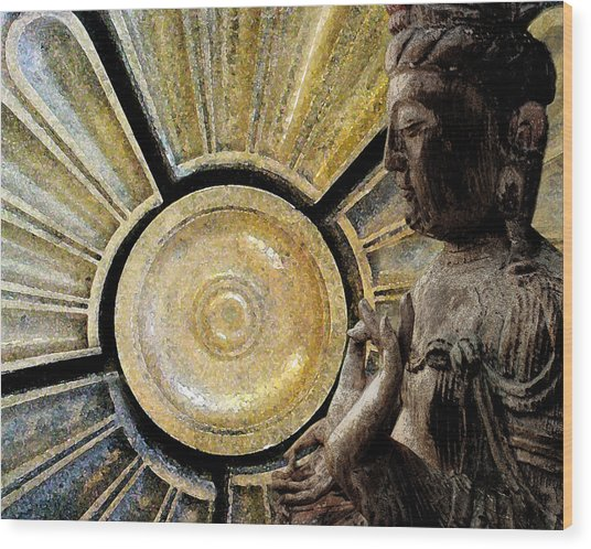 the Buddha  c2014  Paul Ashby Wood Print