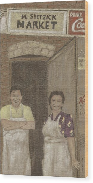 The Butcher And His Wife  Wood Print