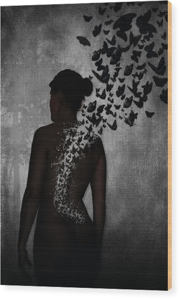 The Butterfly Transformation Wood Print