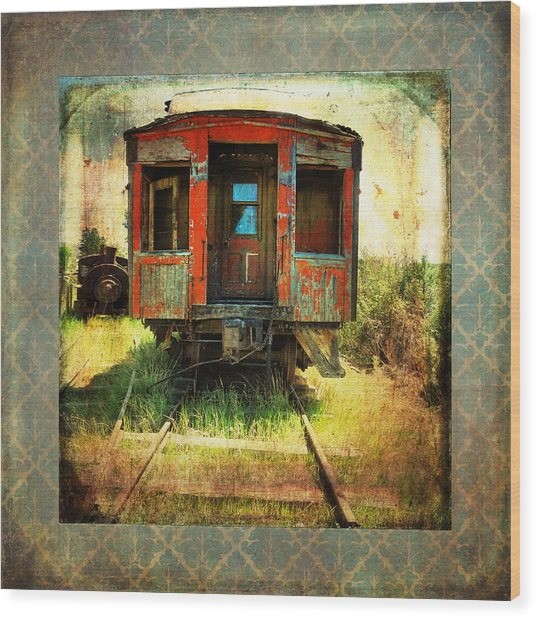 The Caboose Wood Print