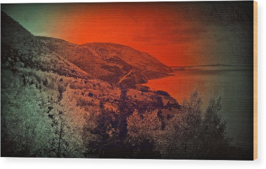 The Cabot Trail Wood Print
