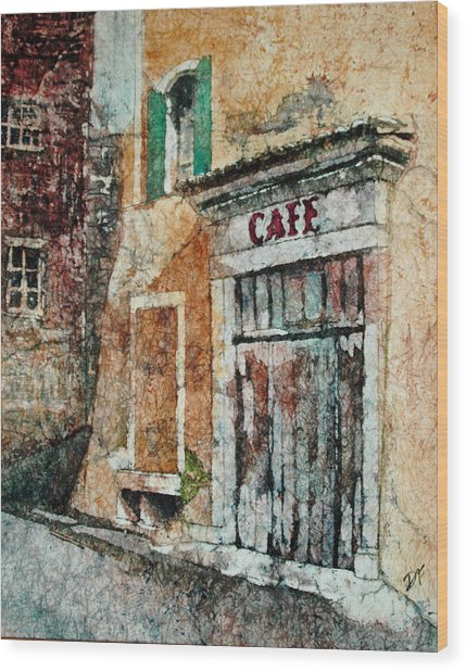 The Cafe Is Closed Wood Print