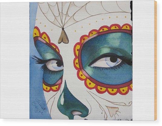 The Calavera Mask Wood Print