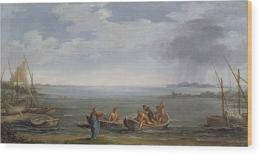 The Calling Of St. Peter And St Wood Print
