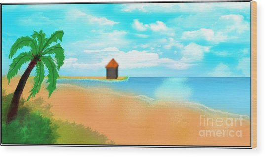 The Calm Coast Wood Print by Sheikh Designs