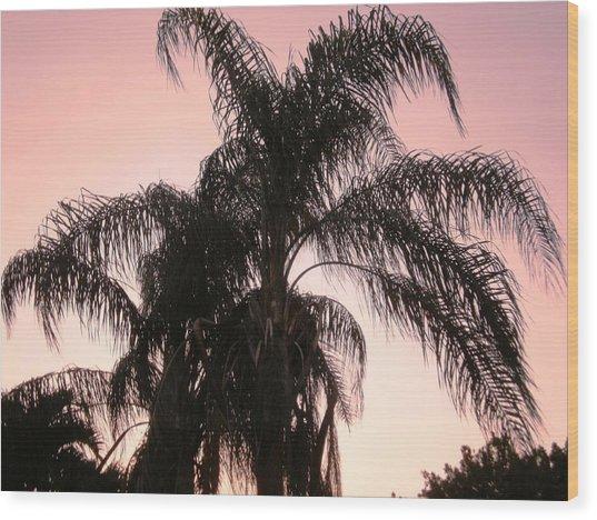 The Calm Of Twilight Wood Print by Natache  DOyen