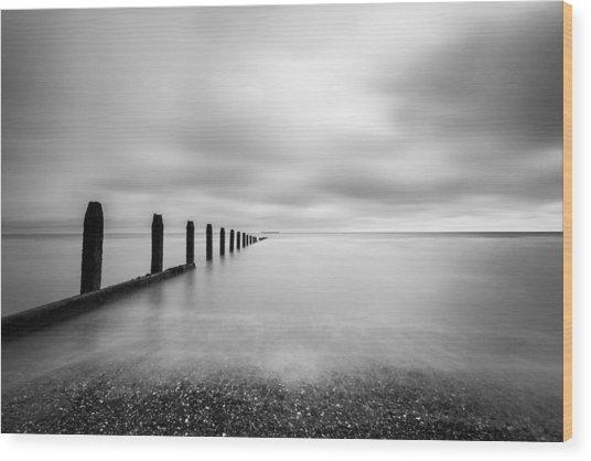 The Calm Sea. Wood Print