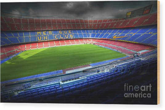 The Camp Nou Stadium In Barcelona Wood Print