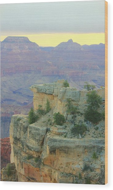 The Canyon Sunrise Wood Print by Douglas Miller