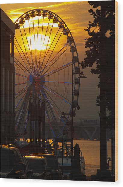 The Capital Wheel Wood Print