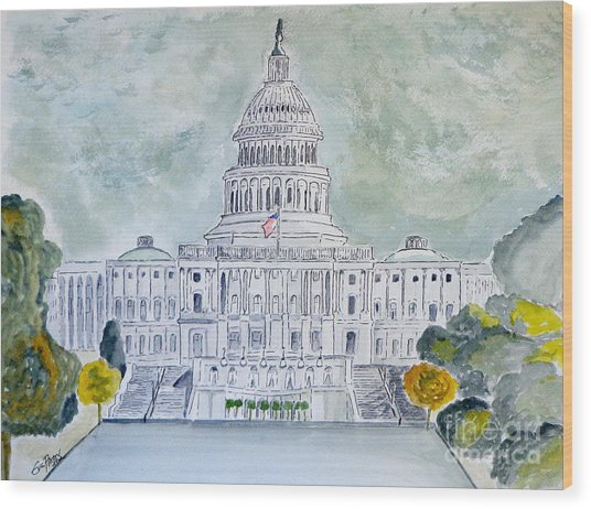 The Capitol Hill Wood Print