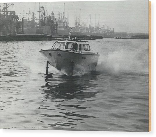 The �captain�s Barge� - 1963 Version Wood Print by Retro Images Archive