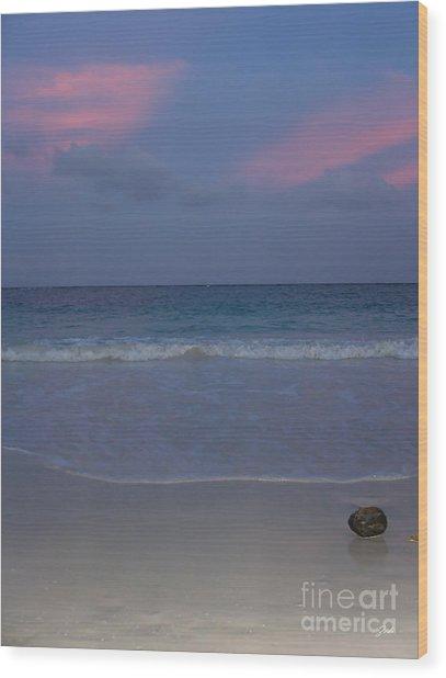 The Caribbean Sunset Wood Print