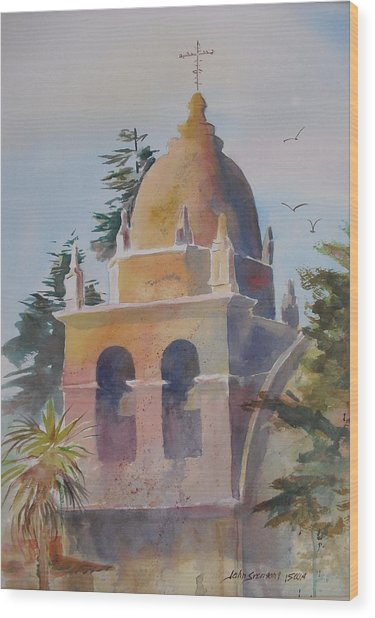 The Carmel Mission Wood Print