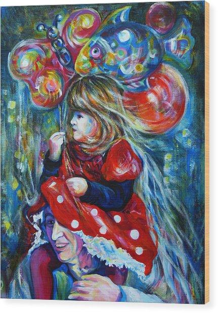 The Carnival Little Princess Wood Print