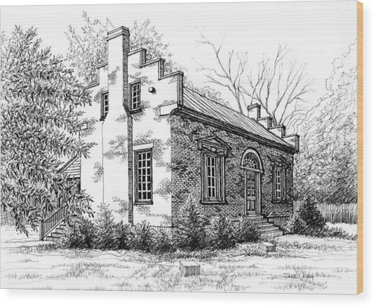The Carter House In Franklin Tennessee Wood Print